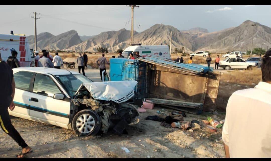 تصادف ۲ خودرو با۲۲ مصدوم در دیر