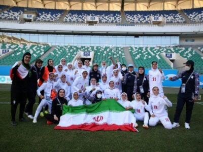 صعود تاریخی تیم ملی فوتبال بانوان ایران