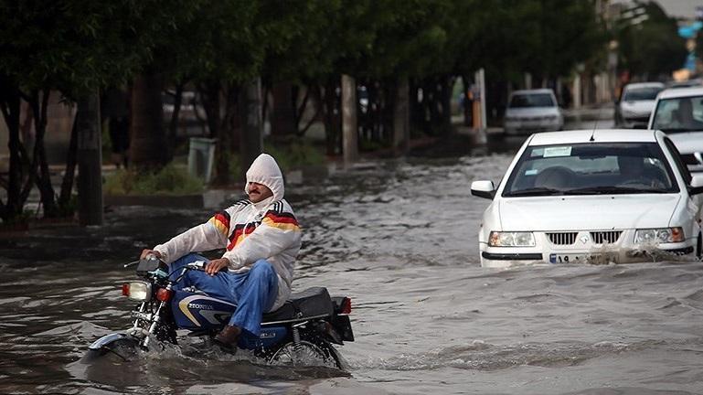 روزهای بارانی تابستان بوشهر/ بیشترین بارش در لُمبَدان + جدول