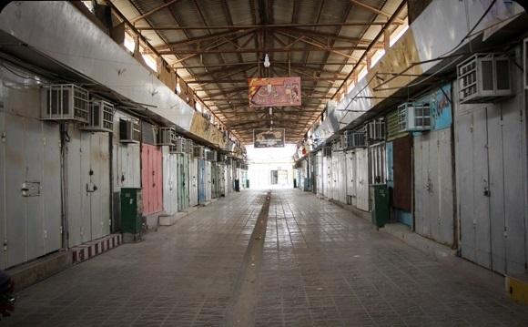 بازار شهرستانهای قرمز بوشهر تعطیل شد