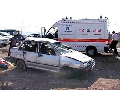 تصادف ۴ خودرو در جاده بوشهر-برازجان با ۵ مصدوم